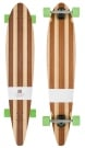 BIG PINNER BAMBOO Longboard 2015 bamboo/green