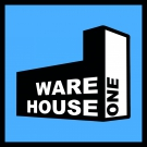 Warehouse One Logo-Sticker 5x5cm blau