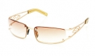 SAROS Sonnenbrille satin gold/brown gradient