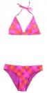CHECK HALTER Bikini C-Cup 2013 pink stripe big