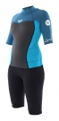 SYNCHRO 2/2 BACK ZIP Shorty turquoise