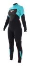 SYNCHRO 5/4/3 GBS BACK ZIP Full Suit black/blue