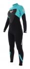 SYNCHRO 3/2 GBS BACK ZIP Full Suit black/blue