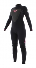 SYNCHRO 3/2 BACK ZIP Full Suit black/pink