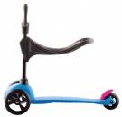 MINI Kickboard neon blue mit Sitz