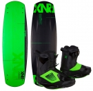 ONE ATR CARBON 138 2014 inkl. ONE Boots phantom/psycho green