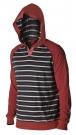 ALLY Hoodie 2014 dark red/charcoal stripe