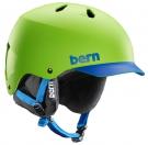 WATTS EPS Helm 2015 matte neon green/blue brim