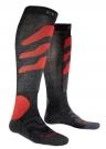 SKI PRECISION Socken 2015 anthracite/red