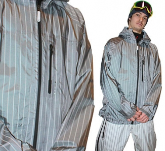 BURTON IDIOM 3L Jacket white black stripe