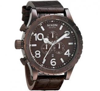 Uhr Nixon 51-30 Chrono LEATHER Watch brown