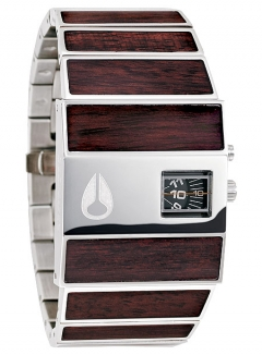 Uhr Nixon Rotolog Watch dark wood