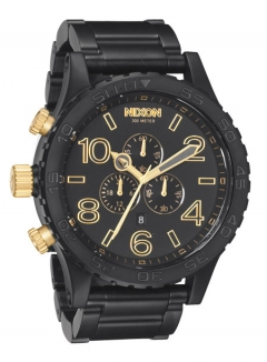 Uhr Nixon 51-30 Chrono Watch matte black/gold