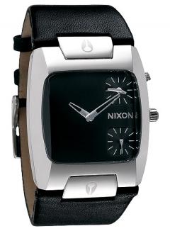 Uhr NIXON BANKS LEATHER Watch black