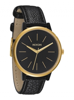 Uhr Nixon Kensington LEATHER Watch black/raw gold
