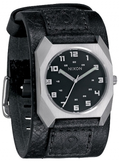 Uhr Nixon Scout Leather Watch black