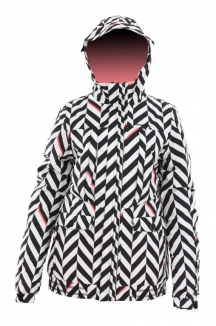 ONEILL GIRLS ESCAPE  HERRINGBONE Jacke 2013 black aop big stripe