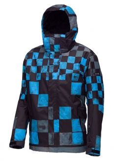 QUIKSILVER NEXT MISSION PRINTED INSULATED Jacke 2013 dna snow black