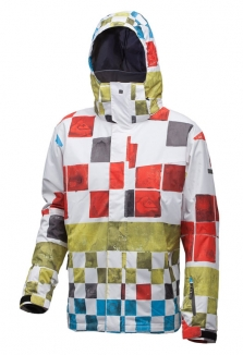 QUIKSILVER NEXT MISSION PRINTED INSULATED Jacke 2013 dna snow tomato