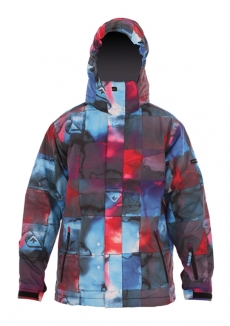 QUIKSILVER NEXT MISSION PRINTED YOUTH Jacke 2013 inkisition tomato