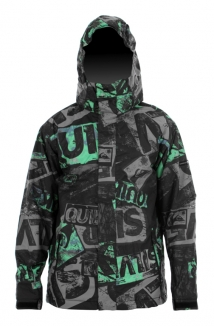 QUIKSILVER NEXT MISSION PRINTED YOUTH Jacke 2013 stain green