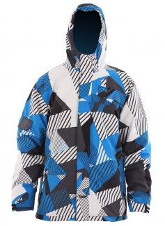 US 40 PAUL Jacke 2012 white/blue aop