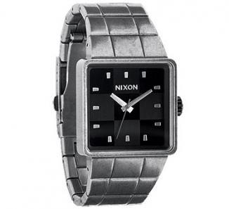 Uhr Nixon Quatro Watch  antique silver/black