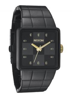 Uhr Nixon Quatro Watch matte black/gold
