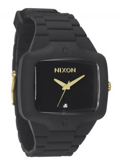 Uhr Nixon Rubber Player Watch matte black/gold