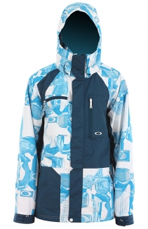 OAKLEY SHELL DEALS Jacke 2012 white goggle/marine blue