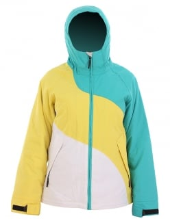 US 40 GIRLS STRIPED Jacke 2012 teal/yellow/white