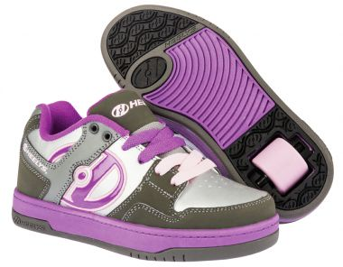 HEELYS FLOW Schuh 2015 charcoal/silver/purple - 38