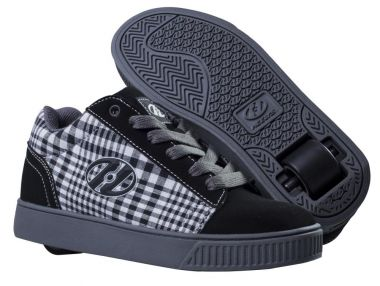 HEELYS STRAIGHT UP Schuh 2014 black/plaid/charcoal/white - 38