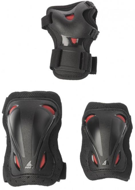 ROLLERBLADE SKATE GEAR JR 3 Pack Schonerset 2020 black/red - XS