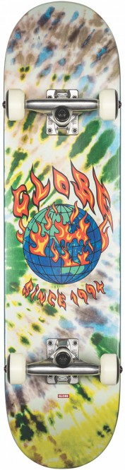 GLOBE G1 ABLAZE Skateboard 2021 tie dye - 7.75