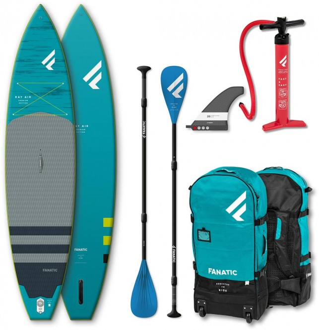 FANATIC RAY AIR PREMIUM 13,6 SUP 2020 inkl. PURE ADJUSTABLE 3-Piece Paddel