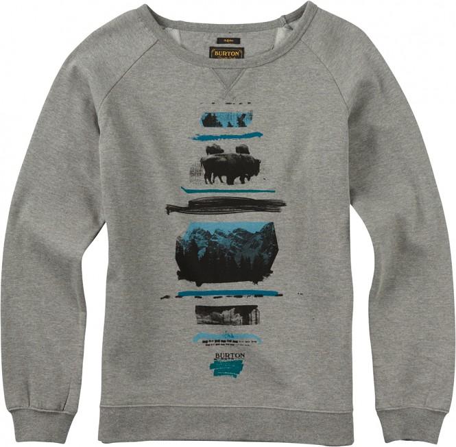 BURTON TUMBLEDOWN Sweater 2016 grey heather - XS