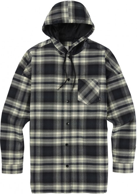 ANALOG TRUITT Flannelhemd 2019 lahombre true black - XL
