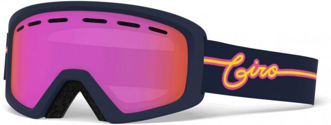GIRO REV Schneebrille 2021 midnight neon lights/amber pink