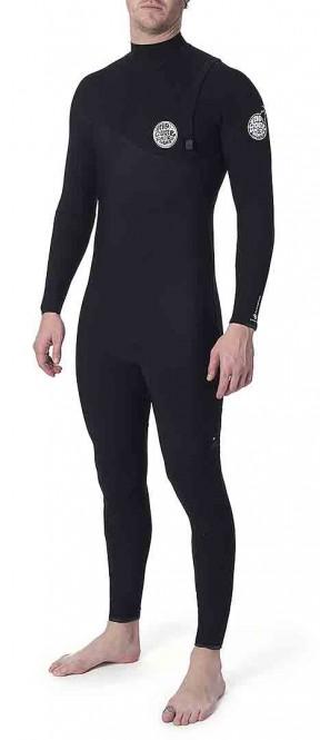 RIP CURL FLASHBOMB 4/3 ZIP FREE Full Suit 2020 black - M