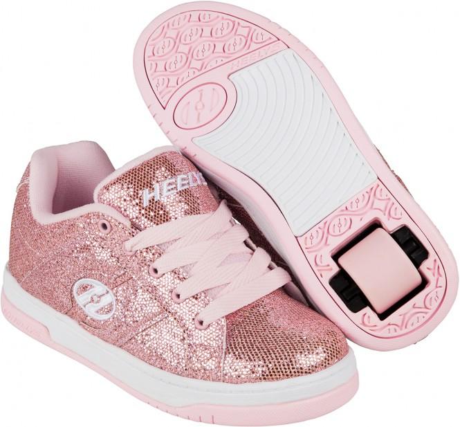 HEELYS SPLIT Schuh 2017 light pink disco glitter - 40,5