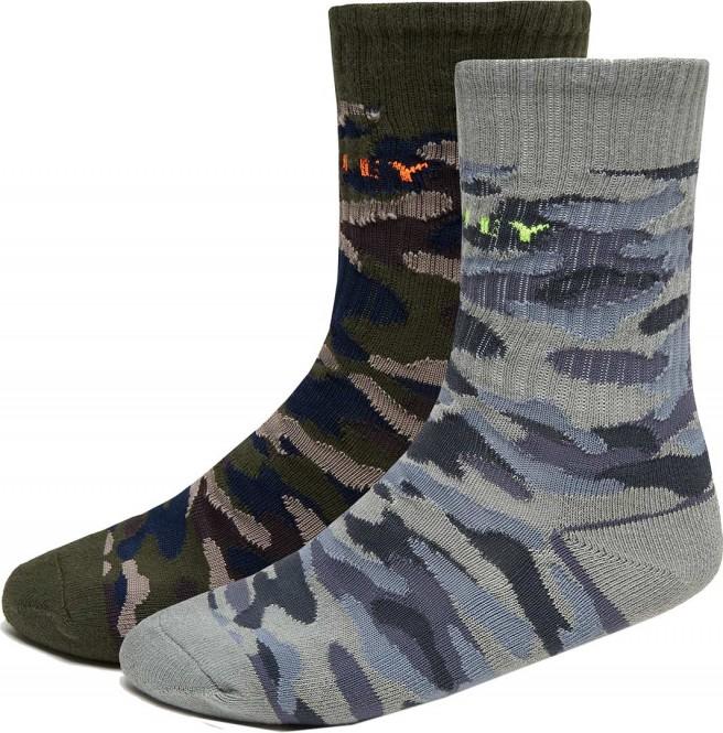 OAKLEY CAMO 2ER-PACK Socken 2021 grey camo - M