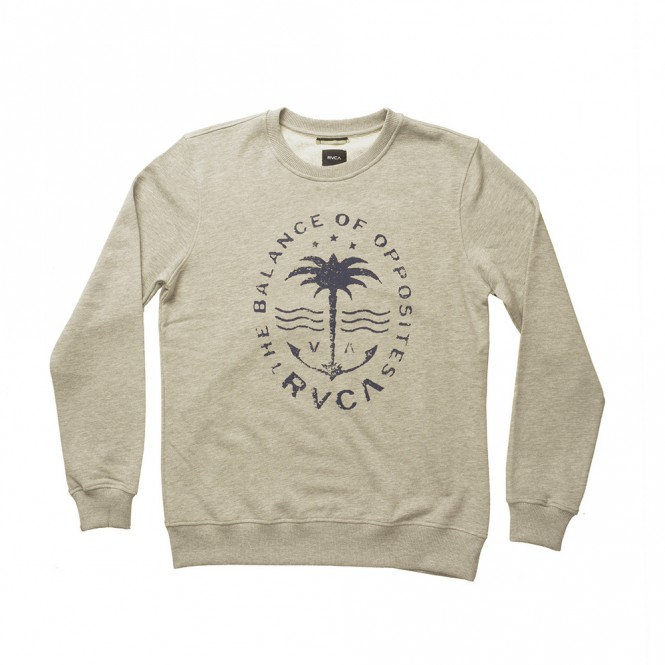 RVCA ANCHOR PALM Sweater 2017 athletic heather - M