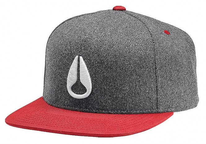 NIXON SIMON Snapback Cap 2015 heather grey/red