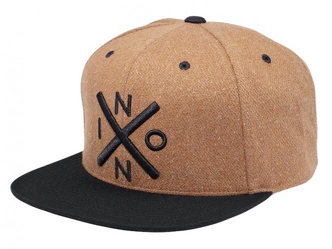 NIXON EXCHANGE WOOL Snapback Cap 2014 honey brown/black