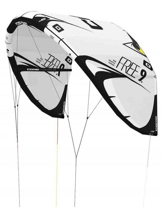 CORE FREE Test-Kite white/black - 7.0