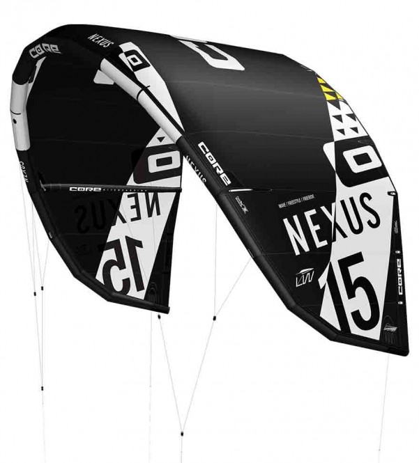 CORE NEXUS LW Test-Kite black - 15.0