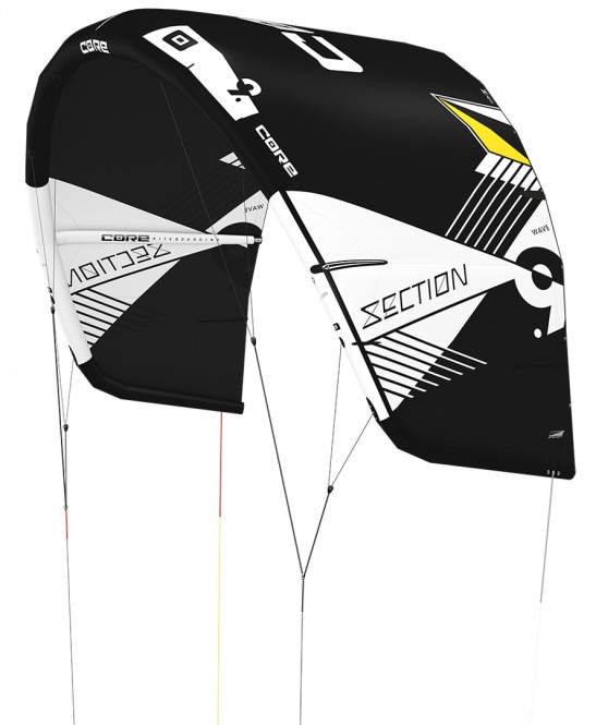 CORE SECTION WAVE Kite black/black - 4.0