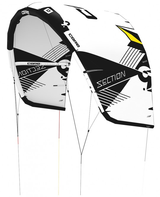 CORE SECTION WAVE Kite white/black - 4.0