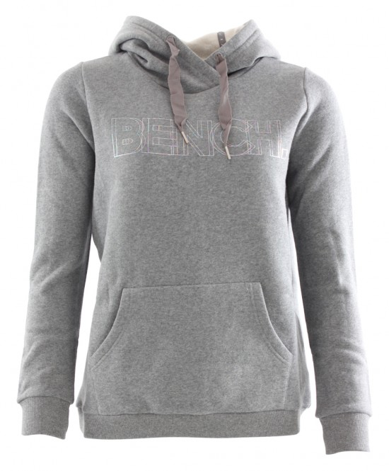 BENCH CORP PRINT Hoodie 2018 winter grey marl - XS